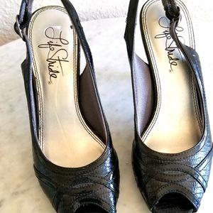 6m life stride 3 inch heels black